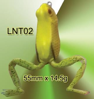 Soft body frogs with jumper leg. LNT02