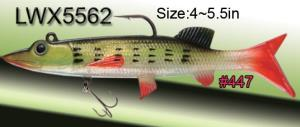 4-6in Soft gel/plastic swim bait - Pike swimbait with jig hook and a treble hook