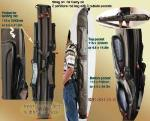 Rod bag. Rod carrier bag for 4 to 6 rods. Rods tough and rigig enough to protect rods